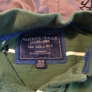Long Sleeve American Eagle Polo